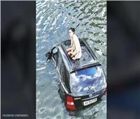 «تيتانيك أوكرانيا».. فتاة محاصرة في النهر بسبب قطة