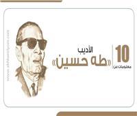 إنفوجراف| 10 معلومات عن الأديب «طه حسين»