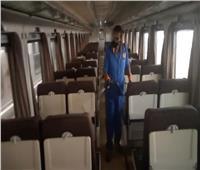 صور| «تعقيم وتطهير» لقطاراتالسكك الحديد ضد كورونا