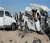 مصرع وإصابة 8 أشخاص في حادث تصادم ببني سويف