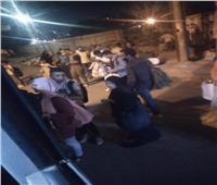 ننشر الصور الأولى لخروج قطار عن القضبان في طنطا
