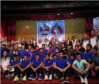 صور| وزير قطاع الأعمال العام يشهد احتفالية صعود غزل المحلة للدوري