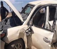 اصطدام سيارة بأحد رادارات طريق السويس