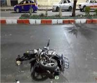 مصرع خفير نظامي في حادث انقلاب دراجة بخارية بالمنيا