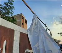 إزالة الدعاية الانتخابية المخالفة من شوارع الخانكة في القليوبية