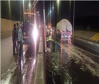 «القابضة لمياه الشرب»: استمرار حالة الاستعداد لمواجهة الأمطار.. صور