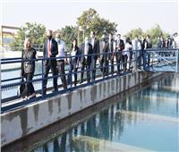 وزيرة التعاون ورئيس القابضة للمياه يتفقدان محطة معالجة روض الفرج