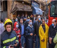 إصابة شخص وفقدان 4 في انهيار سقف عقار بالإسكندرية بسبب الأمطار| صور
