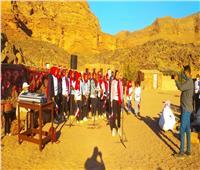 عبد الدايم تتابع فعاليات القوافل الثقافية بوديان سيناء... صور