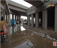 أمطار غزيرة أعلى محور الضبعة والطرق المؤدية إليه «فيديو وصور»