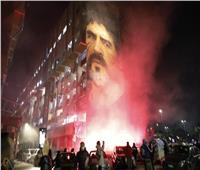 جماهير نابولي تودع الأسطورة مارادونا «صور وفيديو»