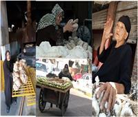 سيدات المطر.. كفاح مصريات لجلب «لقمة العيش» رغم البرد وكورونا| صور