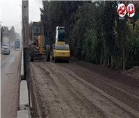 رصد أعمال التطوير بطريق «شبين الكوم - القناطر» بتكلفة 130 مليون جنيه| فيديو