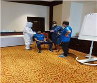مسحة طبية للاعبو المقاولون في جيبوتي قبل مباراة أرتا سولار