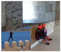 الفوضى تخترق تحصينات قلعة قايتباي التاريخية |صور