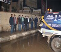 محافظ الغربية يتابع رفع مياه الأمطار من الشوارع والميادين الرئيسية