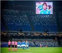 لاعبو نابولي يخلدون ذكرى مارادونا قبل مباراة فريقهم