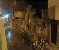 انهيار «بلكونة» منزل بسبب الأمطار في طنطا