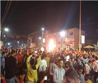 احتفالات عارمة لجمهور الأهلي في شوارع بني سويف.. فيديو