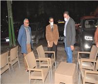 «محافظ الغربية» يغلق محل يبيع الشيشة فى «طنطا»