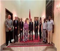 رئيس نادي المقاولون العرب يلتقي وزيرة الإسكان في جيبوتي