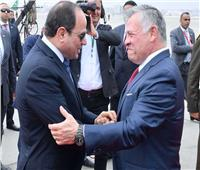 الرئيس السيسي وملك الأردن يناقشان العلاقات الثنائية والقضايا الإقليمية