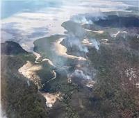 حرائق استراليا تجتاح جزيرة تراثية