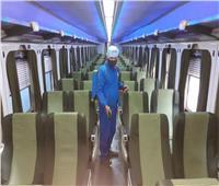 8 صور ترصد استمرار تعقيم القطارات ضد فيروس كورونا