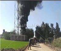 السيطرة على حريق بمحطة تقوية شبكة محمول بالبحيرة  صور