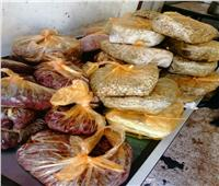 ضبط 51 طن مواد غذائية غير صالحة وإعدام 5 أطنان بأسوان