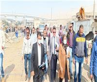 نائب محافظ القاهرة تتفقد أعمال إزالة سوق التونسى القديم