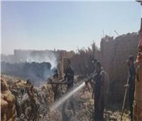 الحماية المدنية تسيطر على حريق بحظيرة ماشية في السويس
