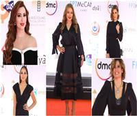 أبرزهن ليلى علوي ونسرين طافش.. «الأسود» شعار نجمات مهرجان القاهرة