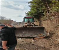 إزالة فورية لـ 4 حالات تعدي على الأراضي الزراعية بالمنوفية | صور