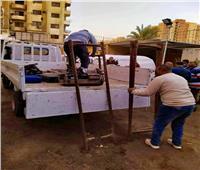 إزالة أكشاك «غاز مصر» بالطالبية ومصادرة معداتها بسبب الترخيص