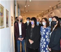 وزيرة الثقافة تفتتح معرض البورتريه الكاريكاتيري بين نجيب محفوظ وماركيز| صور