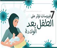 إنفوجراف| 7 فيروسات تؤثر على الطفل بعد الولادة