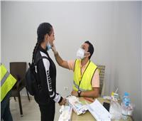 إجراء الكشف الطبي على المشاركين في نهائيات الأولمبياد الرياضي الثاني للمحافظات الحدودية