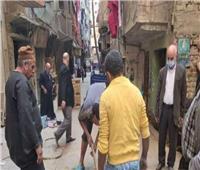 هبوط أرضي بأحد شوارع حي شرق شبرا الخيمة