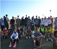 وزير الرياضة يشهد تدريبات لاعبي المشروع القومي للموهبة بشرم الشيخ