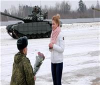 طرائف 2020 .. طلب زواج على مدرعة روسية