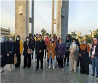 جامعة حلوان تنظم رحلة للطلاب الوافدين إلى مكتبة الإسكندرية