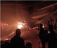 حريق هائلبمخزن للبلاستيك بطريق «طلخا - شربين» في الدقهلية