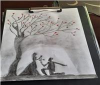 إبداعات القراء| جاسر جمال يبدع بالقلم الرصاص