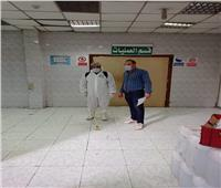 تطهير مستشفى بهتيم والمركز الطبي بشبرا الخيمة.. صور