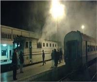 انبعاث دخان من إحدى عربات قطار طنطا بسبب ماس كهربائي
