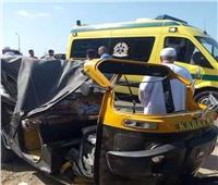 مصرع وإصابة اثنين في حادث تصادم في بني سويف