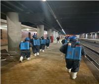 صور| تطهير محطة قطار سيدي جابر شرق الإسكندرية