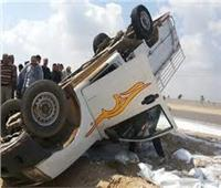 انقلاب سيارة ربع نقل على طريق «بنها - المنصورة»