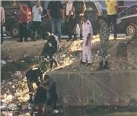 شاهد بالفيديو.. لحظة العثور على جثة شاب بترعة المريوطية